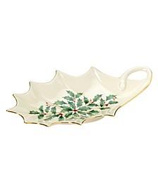 Holiday Holly Leaf Dish