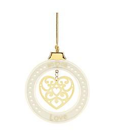 Sentiment Love Ornament