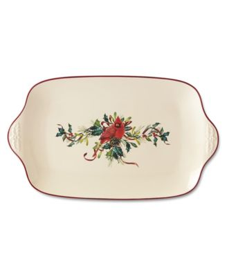 Winter Greetings Oversized Platter