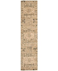 "Silk Elements SKE13 Beige 2'5"" x 10' Runner Rug"
