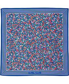로렌 랄프로렌 Lauren Ralph Lauren Cotton Ditsy Floral Bandana,Blue Glaci