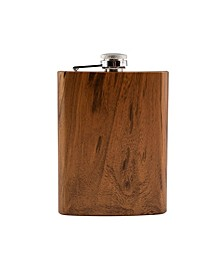 8 Oz Wood Decal Flask