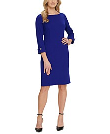 Elbow-Sleeve Sheath Dress