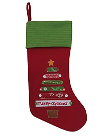Christmas Cheer Red Christmas Tree Stocking, Created for Macy's