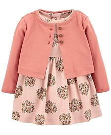 Baby Girl 2-Piece Floral Bodysuit Dress Set