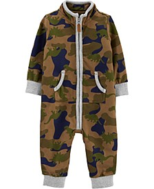 Baby Boy Camo French Terry Jumpsuit