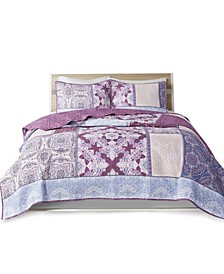 Ezra 3 Piece Full/Queen Coverlet Set