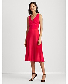 Pleated Matte Jersey Dress