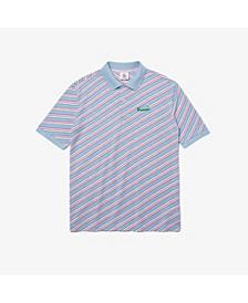 Men's Petit Pique Logo Striped Polo