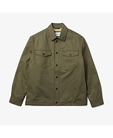 Men's Sherpa Lined Cotton Overshirt