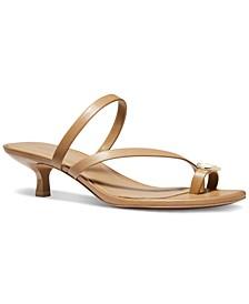 Letty Kitten-Heel Dress Sandals