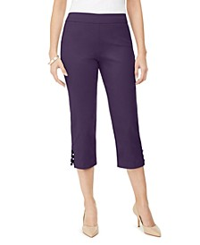 Petite Lattice-Hem Cropped Pants, Created for Macy's