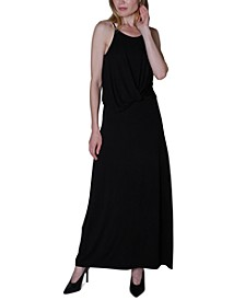Juniors' Twist-Front Maxi Dress