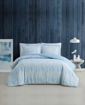 Brooklyn Loom Trevor 3 Piece Duvet Cover Set, King Bedding In Blue