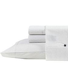 Buoy Line Cotton Percale Sheet Set, Queen