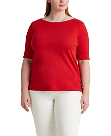 Plus Size Elbow Sleeve Top