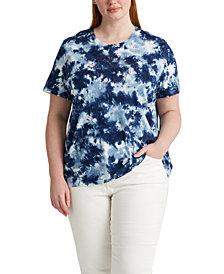 Lauren Ralph Lauren Plus Size Tie-Dye T-Shirt