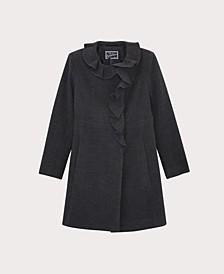 Big Girls Ruffle Dress Coat