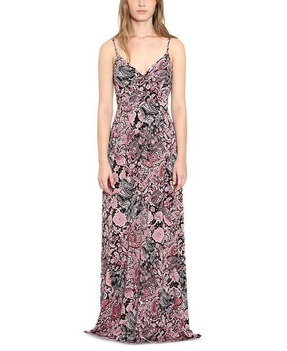 Michael Kors Plus Size Paisley-Print Maxi Dress