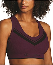 Women's Sweatshirt Chevron Sports Bra, available in extended sizes