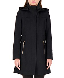 Hooded A-Line Walker Coat