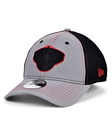 New Orleans Pelicans Gray Black Pop 39THIRTY Cap