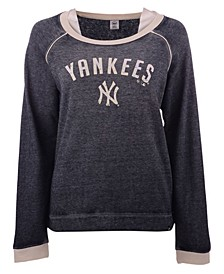 New York Yankees Women's Fade Out Boyfriend Crew Sweatshirt