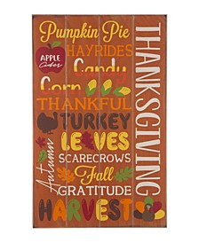 Thanksgiving Word Sign Hanging Decor