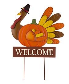 Thanksgiving Turkey Yard Stake-Hanging Wall Decor