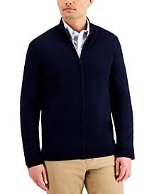 Men's Merino Zip-Front Sweater, Created for Macy's