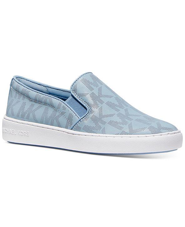 Michael Kors Keaton Signature Logo Slip-On Sneakers
