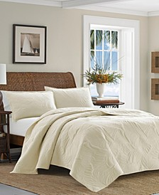 Solid Paradise Fronds Twin Quilt Set