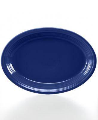 """Cobalt 13"""" Oval Platter"""