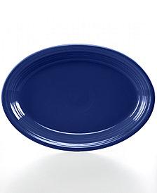 """Fiesta Cobalt 13"""" Oval Platter"""
