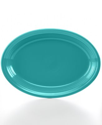 "Turquoise 13"" Oval Platter"
