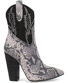 Women's Calico Leather Bootie