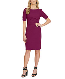DKNY Side-Ruched Sheath Dress