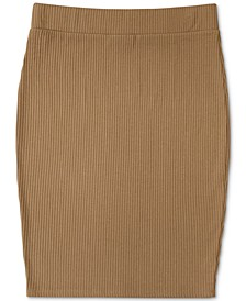 Ribbed-Knit Pencil Skirt, Created for Macy's