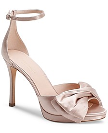 Women's Bridal Satin Evening Dress Heels