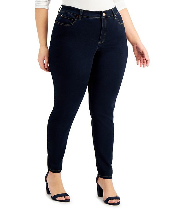 INC International Concepts INC Plus Size Essex Super Skinny Jeans, Created for Macy's