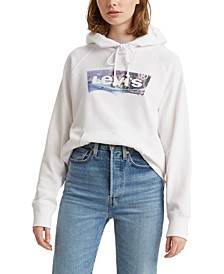 Fleece Graphic Print Hoodie