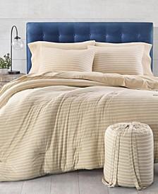 CLOSEOUT! Stripe Jersey Twin Comforter Set