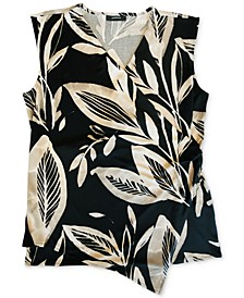 Wrap-Style Botanical-Print Top, Created for Macy's
