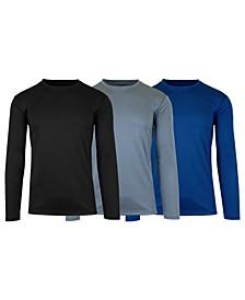 Men's Long Sleeve Moisture-Wicking Performance Tee, Pack of 3