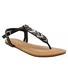 Women's Polina Beaded Thong Sandals