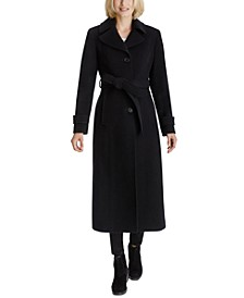 Single-Breasted Belted Maxi Coat, Created for Macy's