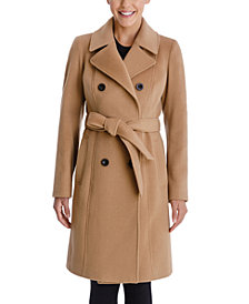 Anne Klein Double-Breasted Belted Coat