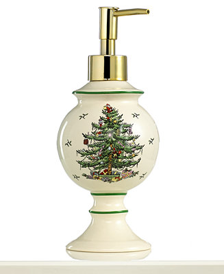 Closeout Spode Bath Accessories Christmas Tree Soap And Lotion Dispenser Bathroom