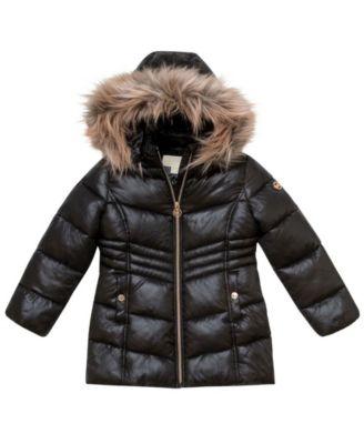 Little Girls Stadium Length Puffer Jacket