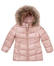 Toddler Girls Stadium Length Puffer Jacket